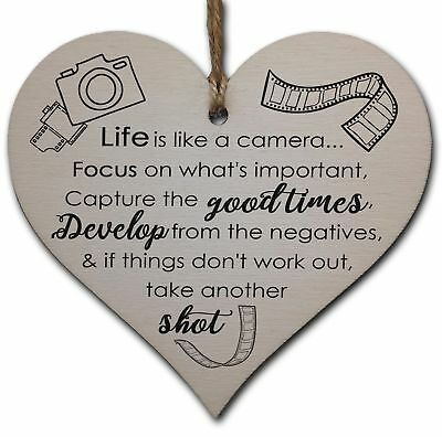 £3.49 • Buy Handmade Wooden Hanging Heart Plaque Gift For Someone Special Inspirational Gift