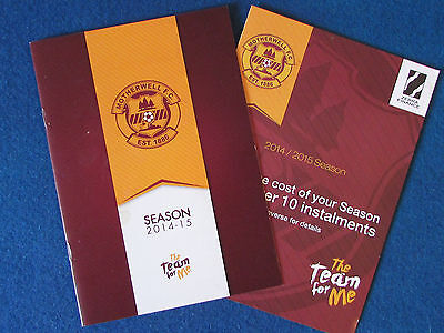 Motherwell FC - Season Preview Booklet - 2014/15 • 3.99£