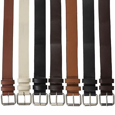 £4.49 • Buy Kruze New Mens PU Leather Belts Buckle Belt For Jeans Big Tall King Sizes