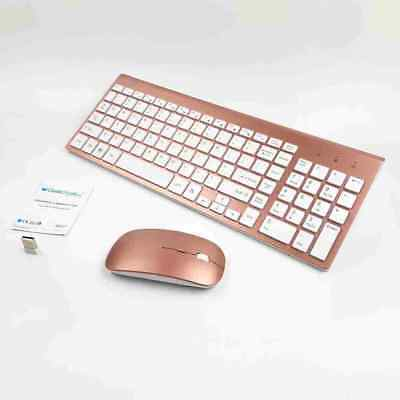 MINI WIRELESS 2.4GHZ Mouse AND Keyboard COMBO APPLE IMAC MACBOOK PRO AIR FPK Ku • 30.37£