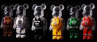 $199.95 • Buy NBA 400% Bearbrick By MEDICOM TOY Cavaliers Warriors Spurs Lakers Bulls Celtics