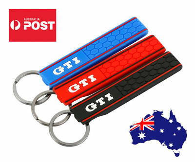 AU11.99 • Buy GTI Keyring Key Chain Silicon Rubber Volkswagen VW Golf Polo Car Novelty Gift