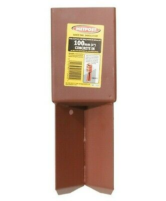£15.79 • Buy Metpost Concrete In Wedge Anchor For 100mm Square Wooden Posts - 1124