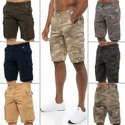 Kruze Jeans Mens Army Combat Shorts Camouflage Cargo Casual Camo Work Half Pants • 12.99£