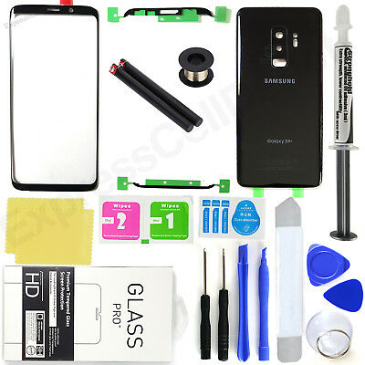 $ CDN38.51 • Buy For Samsung Galaxy S9 Plus G965 -Black- Front Screen Glass Back Replacement Kit