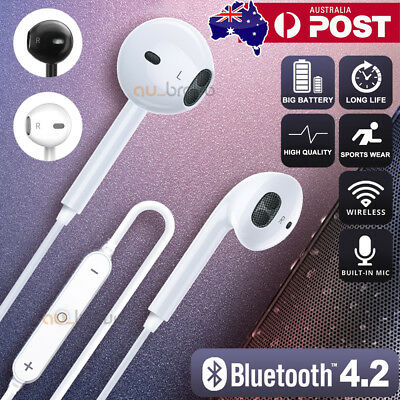 AU8.95 • Buy Premium Wireless Bluetooth Sweatproof Headset Sport Gym Earphones Headphones