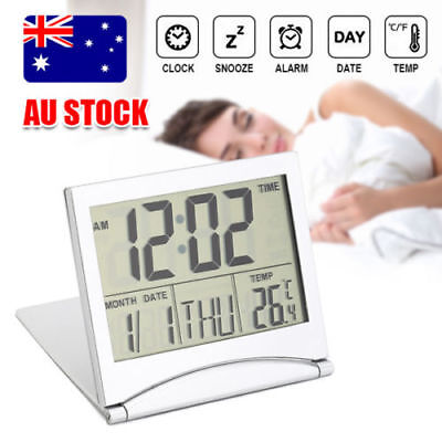 AU10.39 • Buy Home Digital LCD Screen Travel Alarm Clock Desk Thermometer Timer Calendar