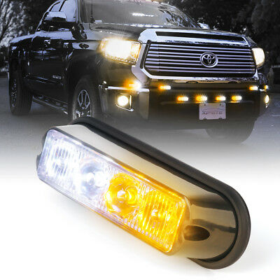 $11.68 • Buy Xprite 4 LED 4W Emergency Surface Mount Grille Strobe Light Head Amber / White