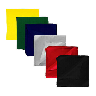 AU12.15 • Buy Plain Extra Large 100% Premium Polyester Bandana - 27 X 27 Inches - Party And
