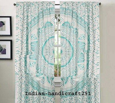 Indian Curtains Hippie Mandala Tapestry Wall Hanging Bohemian Valances Decor Art • 17.85£