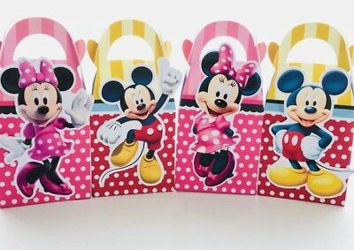 $6.94 • Buy 6x Disney Minnie Mickey Mouse Lolly Loot Bag Box. Party Supplies Cake Bunting