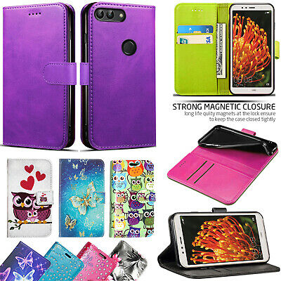 For Huawei P Smart / Enjoy 7S FIG-LX1 - Wallet Leather Case Cover+Tempered Glass • 4.99£