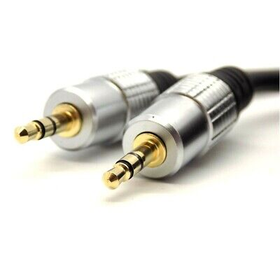 £3.25 • Buy 1m Audio Aux Cable Stereo 3.5mm Jack 24k Gold Connector TRS Lead Car IPhone MP3