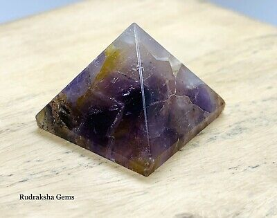 Reiki Energy Charged Amethyst  Power Natural Healing Crystal Stone Pyramid Uk  • 5.04£