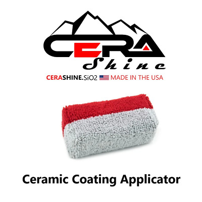 $5.95 • Buy Cerashine™ Microfiber Terry Cloth Ceramic 9h Car Coating Applicator Pad