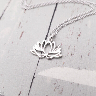 $ CDN22.66 • Buy Sterling Silver Lotus Flower Charm Necklace