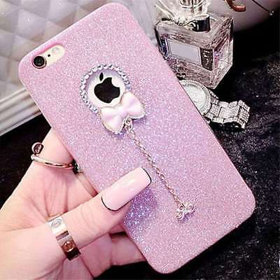 Cute 3D Bowknot For IPhone & Samsung Phone Bling Glitter Crystal TPU Case Cover • 4.19£