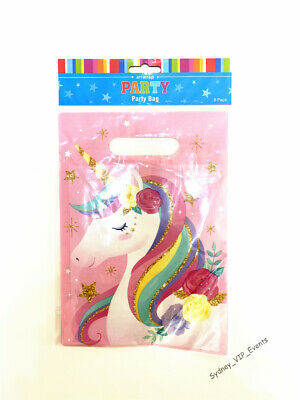 AU3.65 • Buy New Unicorn Party Bags Girls Birthday Lolly Favour Treat Loot Bags Girl Birthday
