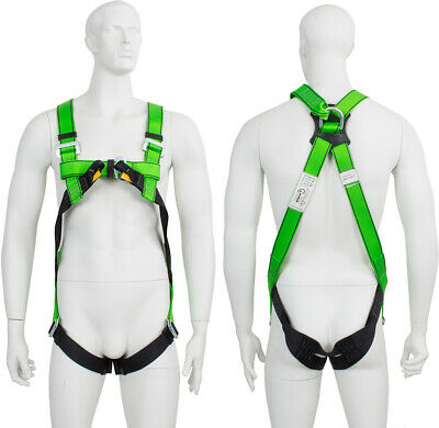 2 Point Full Body Height Safety Fall Arrest Restraint Scaffold Harness S-XXL • 22.95£