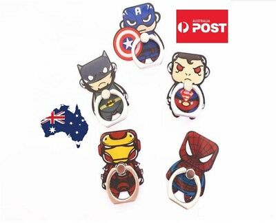 AU10.99 • Buy Phone Finger Ring Holder Pop Stand IPhone Samsung Socket DC Ironman Hero