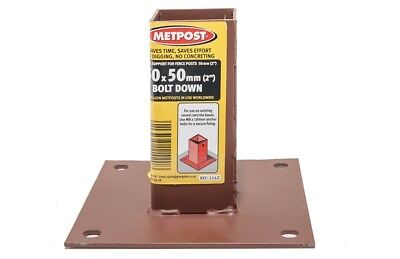 £12.32 • Buy Metpost Bolt Down Anchor Plain Box For 50mm Wooden Posts 1142