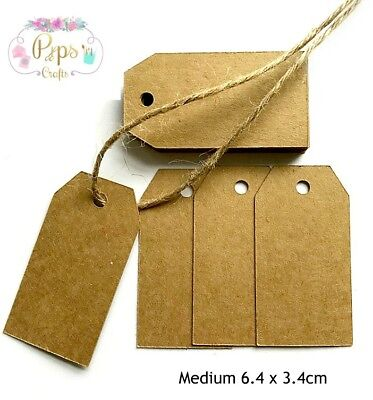 50 Quality Kraft Card Gift Tags - Gift Label Favours Card Making Crafts • 2.99£