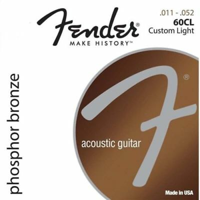 $ CDN5.16 • Buy Fender 60CL Phosphor Bronze Acoustic Guitar Strings - Custom Light - 11-52