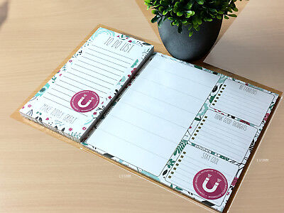 £3.59 • Buy Fridge Notice Things To Do Magnetic Memo NotePad Planner Schedule List Pad Board