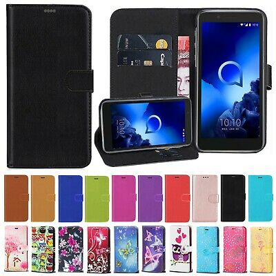 For Alcatel 3C 3V 2018 3 1C 1V 2019 New Stylish Leather Wallet Phone Case Cover • 4.99£