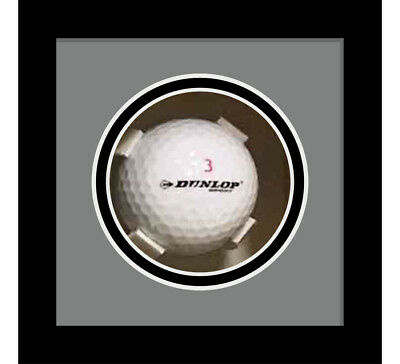 Golf Ball Display Case For Signed Golf Ball - Grey Mount • 23£