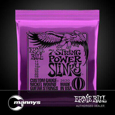AU20 • Buy Ernie Ball 7-String Power Slinky Nickel Wound Electric Guitar Strings - (11-58)