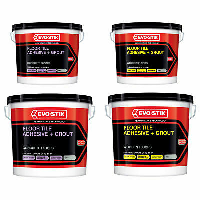 £19.25 • Buy Evo Stik Tile A Floor Adhesive & Grout Concrete Or Wooden Floors Charcoal Grey