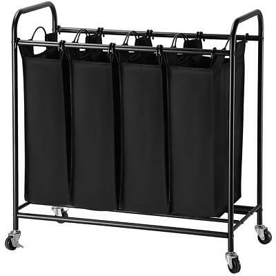 View Details 4-Bag Rolling Laundry Sorter Cart Heavy-Duty Sorting Hamper-Removable Bags • 23.99$ CDN