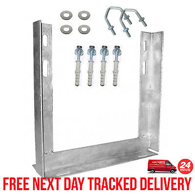 PAINTED - 12  X 12  INCH TV WALL BRACKET MOUNT + COACH BOLTS + 2.5  V BOLTS • 15.95£