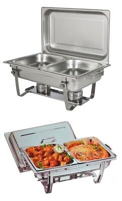 £37.45 • Buy  8.5l Double Pan Chafing Dish Set Food Warmer Buffet  Twin Food Pans Fuel Gel