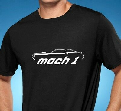 $20 • Buy 1969 Ford Mustang Mach 1 Muscle Car Tshirt NEW FREE SHIPPING
