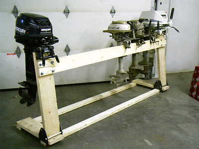 AU128.36 • Buy Boss Boat Motor Stand Cart Dolly Bracket Outboard Mount Gas