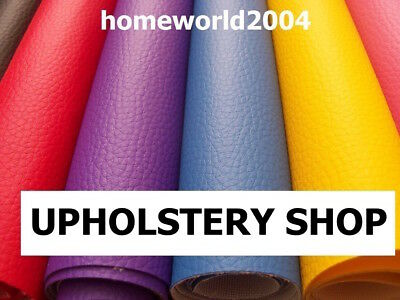 Faux Leather Upholstery Fabric Leatherette Vinyl 68 COLOURS  • 7.99£