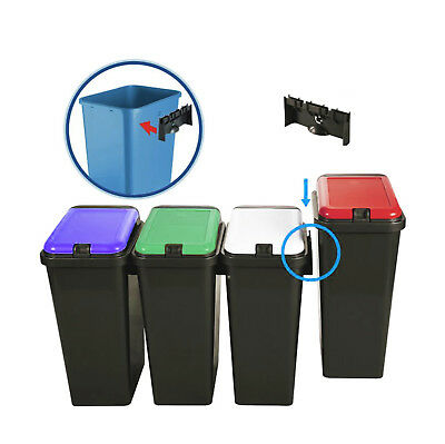 £14.94 • Buy 45L Plastic Recycling Recycle Bins Touch Top Bin Kitchen Waste Dustbin Rectangle