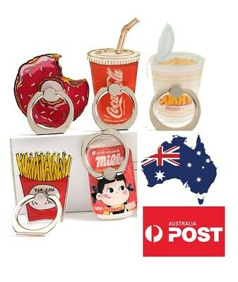 AU10.99 • Buy Phone Finger Ring Holder Pop Stand Grip IPhone Samsung Socket Food Doughnut Coke