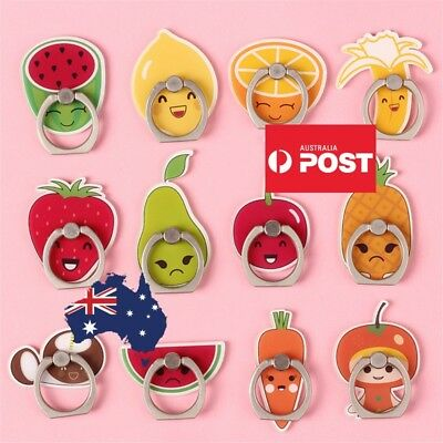 AU10.99 • Buy Cute Finger Ring Holder Pop Stand Grip IPhone Phone Socket Fruit Vege Cartoon
