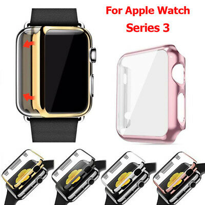 $ CDN2.89 • Buy For Apple Watch Series 3 Full Case Cover + Screen Protector Cover IWatch 38/42mm