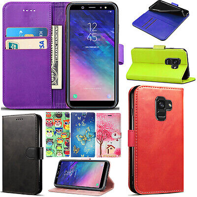 For Samsung Galaxy J6 2018 Flip Wallet PU Leather Phone Stand Case Cover • 2.99£