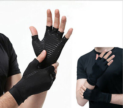 1 Pair Copper Arthritis Gloves Hand Pain Relief For Carpal Tunnel Computer Type • 13.98$