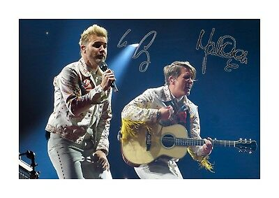 Gary Barlow & Mark Owen Take That A4 Reproduction Signed Poster Choice Of Frame • 28.99£