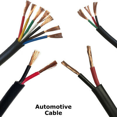 5M 2mm 25Amp 2 Core Thin wall Twin Cable Wire Automotive Auto Marine
