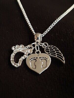 £6.50 • Buy Baby Memorial Charm Baby Loss/ Miscarriage/stillborn Grief Silver Necklace Gift