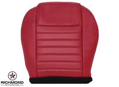 $197.10 • Buy 2005-2009 Ford Mustang -Driver Side Bottom Replacement Leather Seat Cover Red