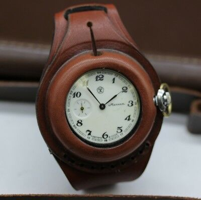 $36.99 • Buy Antique WW1 New Leather STRAP Band WRISTBAND For Pocket Watch 50mm With A Cover