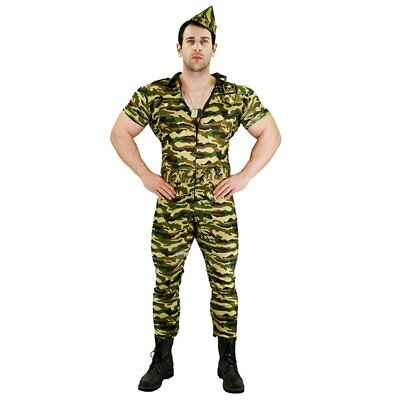£12.99 • Buy Adults Mens Army Soldier Guy Forces Military Fancy Dress Party Costume Outfit